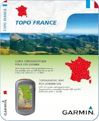 Déstockage Carte GPS Topo 1/4 de France V2
