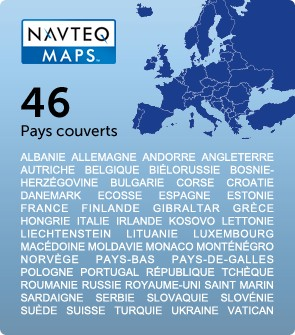 cartographie Navteq Europe 46 Pays
